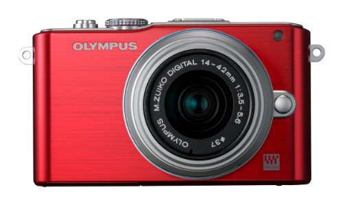 Olympus Pen E-PL3 Compact System Camera - Red (M.ZUIKO Digital 14 -42mm II R Lens Kit)