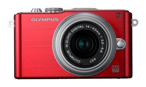 Olympus Pen E-PL3 Compact System Camera - Red (M.ZUIKO Digital 14 -42mm II R Lens Kit)