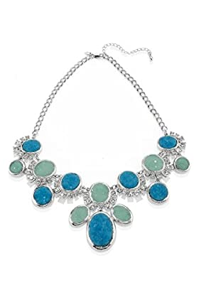 Diamanté & Stone Bling Collar Necklace