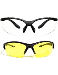 New Stylish UV Protected Combo Pack Of Sunglasses For Women / Girl ( ClearNightVision-YellowNightVision ) ( CM-SUN...