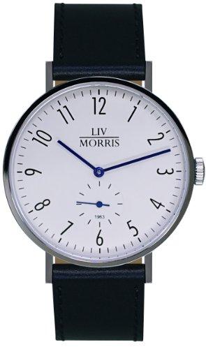 LIV MORRIS 1963 Modell TETHYS, im Bauhaus-Stil gehaltene Herrenuhr, Ø 41mm, feine Automatikuhr, massiv Edelstahl, Saphirglas, mechanisches SeaGull-Automatik-Uhrwerk
