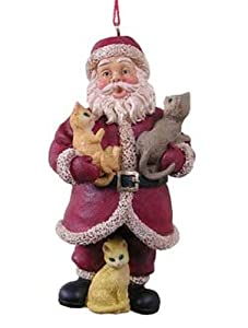 North Pole Santa Claus Ornaments with Cats [521885]