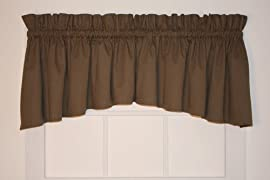 Dayita Solid Color Crescent Valance Curtain 80-Inch-by-17-Inch