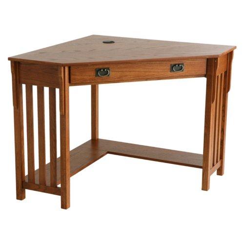 Mission Oak Corner Desk - Southern Enterprises H0664100TX