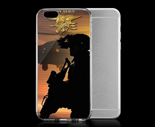 Light weight with strong PC plastic case for Iphone 6 Lifestyle Military US Navy SEALs Siloutte (Iphone 4 Navy Seals Case compare prices)