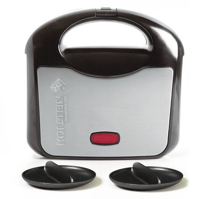 Great Deal! Holstein Housewares HH-0937013SS Fun Arepa and Empanada Maker, Stainless Steel