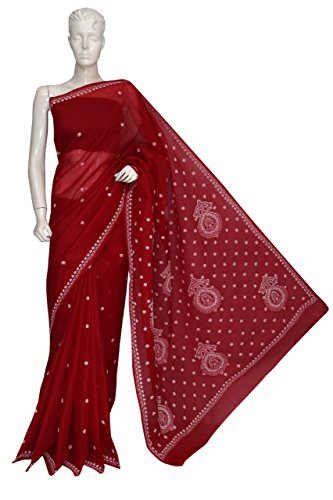 ADA-Lucknow-Chikankari-Hand-Embroidered-Designer-Ethnic-Cotton-Saree-With-Blouse-A112033