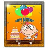 Edmond Hogge Jr Birthdays Birthday Boy and Cake Desk Clocks