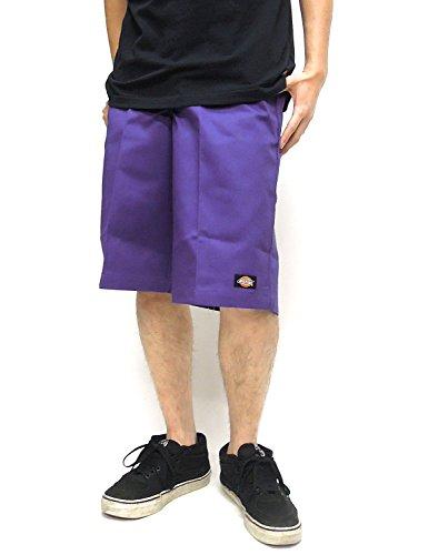 Dickies ハーフパンツ ディッキーズ ショーツ USAモデル ルーズフィット マルチポケット (32インチ, ミッドパープル)