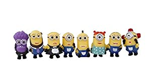 8pcs/lot 4-6cm Mini Despicable ME Yellow Minion Toys Kids Cute Dolls (set B)