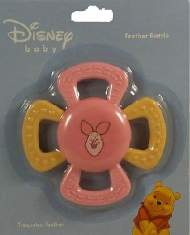 Piglet Teether Rattle for Baby Girls (colors may vary) - 1