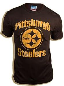 Junk Food NFL Football Pittsburgh Steelers Washed Black Men's T-shirt Tee