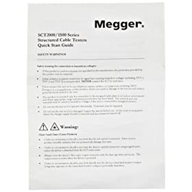 Megger 6172-909 User Manual for Use With Structured Cable Testers at Sears.com