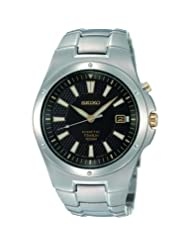 Seiko Men's SKA399 Kinetic Titanium Bracelet Watch