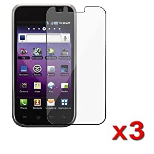 3x Clear Screen Protector For Samsung Galaxy S 4G T959v