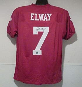Signed John Elway Jersey - Size Xl Red - Autographed College Jerseys by Sports+Memorabilia