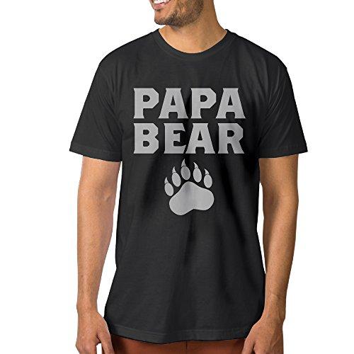 Papa Bear Cute Fathers Day Gift Male Short Sleeve T-shirt