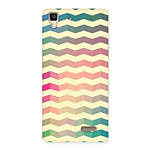 Special Seamless ZigZag Multicolor Back Case Cover for Oppo R7