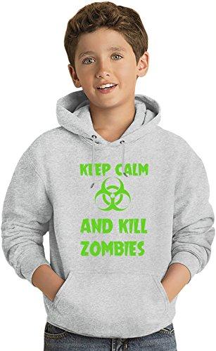 Keep Calm And Kill Zombies Felpa leggera con Cappuccio per Bambini Lightweight Hoodie For Kids | 80% Cotton-20%Polyester| 14-15 yrs