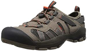 KEEN Men's Mckenzie Water Shoe,Brindle/Mandarin Red,13 M US