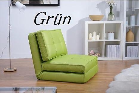 ArtDeko - Sillón cama (piel sintética)