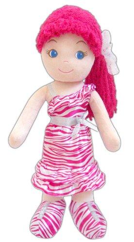 GirlznDollz Leila Glam Girl - Zebra Print Baby Doll, Dark Pink/White - 1