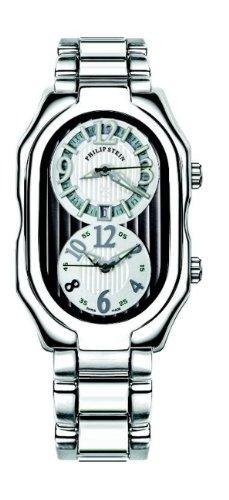 Philip Stein - 12-LGRW-SS - Montre Mixte - Quartz Analogique - Cadran Blanc - Bracelet Acier