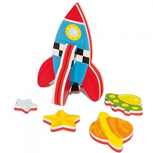 Meadow Kids Build a Rocket Bath Toy - 1