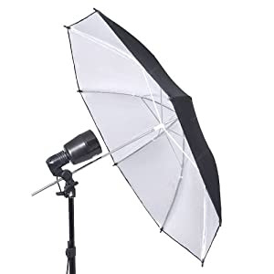 Leinox Black&Silver one layer Umbrella 91cm