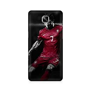 Motivatebox- Ronaldo Kick Premium Printed Case For OnePlus Three -Matte Polycarbonate 3D Hard case Mobile Cell Phone Protective BACK CASE COVER. Hard Shockproof Scratch-