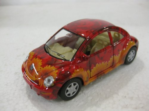 Volkswagon New Beetle In Flower Print Diecast 1:32 Scale By Kinsmart