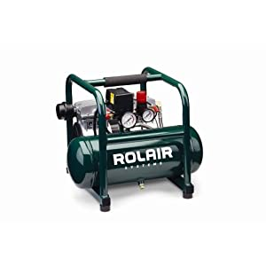 Rolair JC10 Super Quiet 1HP Oil Less 2.5 Gallon Air Compressor,Rolair,JC10
