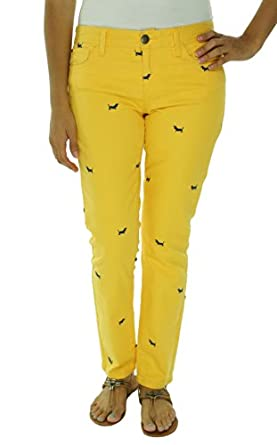 Tommy Hilfiger Women's Modern Skinny Embroidered Jeans (Daffodil Wash) (10)
