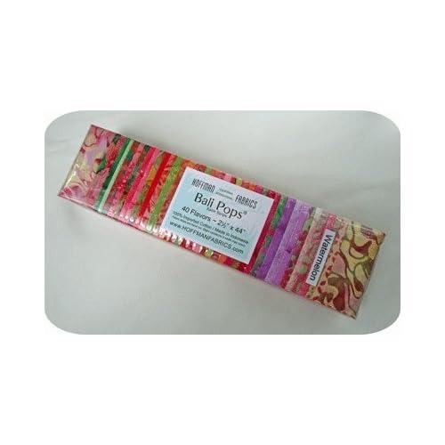 Amazon.com: Hoffman 'Bali Pops' Watermelon Batik Cotton Fabric Strips