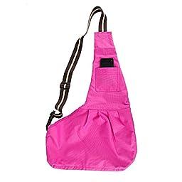 Kuke Pet Sling-Style Carrier Dog Cat Sling Travel Bag Small Size Pink