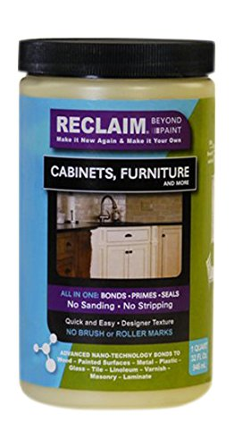 RECLAIM RC01 Cabinet, Furniture & More Paint/Now You Can Reclaim Almost Any Surface with This Combination Primer/Finish/Sealer, No Stripping, No Sanding & No Priming, Quart (Color) Buttercream (Kitchen Cabinet Paint Cream compare prices)