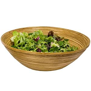Large Bamboo Salad And Fruit Bowl Kitchen