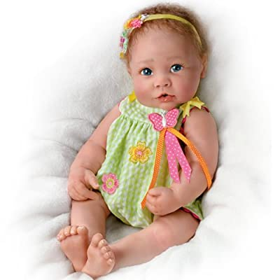 Touch-Activated Lifelike Linda Murrary Baby Doll from The Ashton-drake Galleries