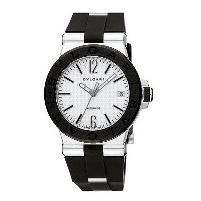 BULGARI Diagono Automatic MidSize Watch in Steel Rubber With BOX PAPERS DG35C6SVD