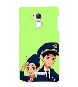 EPICCASE Pilot and air hostess Mobile Back Case Cover For Coolpad Note 3 Lite (Designer Case)
