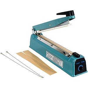 "12""  Hand Impulse Sealer Heat Seal Machine Poly Sealing Free Element Grip"