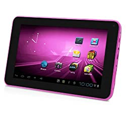 D2 7-Inch Android 4.0/ 4GB/512MB DDR3/16:9 Capacitive Multi-Touch Widescreen Internet Tablet - Pink