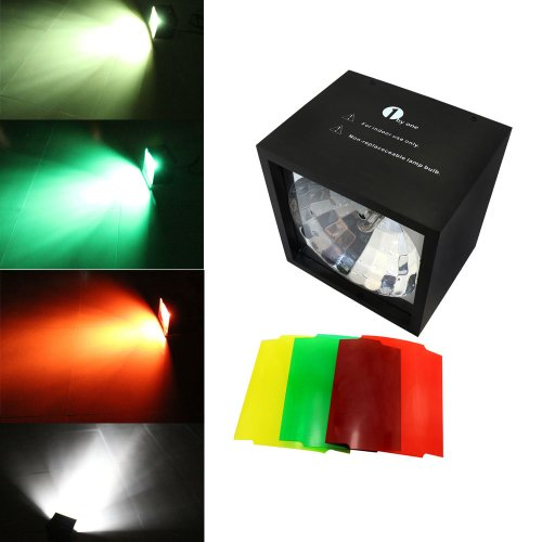 1Byone Type Qs-0092 Mini Cube Flashing Light Lamps With Three Colors Gels, Apply Lighting For Dj Disco House Party Hotel Stage Office Camping Field Etc, Lighting For Halloween And Christmas