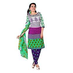 Paras Women's Unstitched Salwar Suit (White_Free Size)