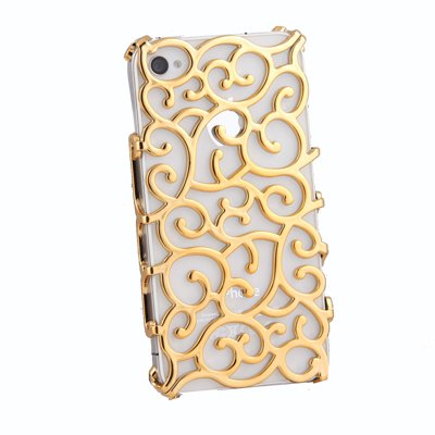 Electroplating Hollow Pattern PC Case Hard Back