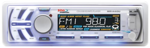 BOSS Audio MR1440U In-Dash Single-Din Detachable CD/USB/SD/MP3 Player Receiver with Remote