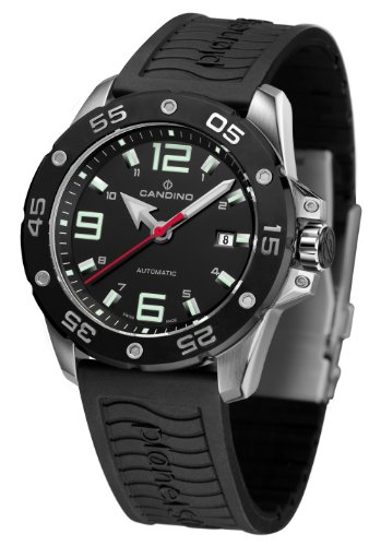 Candino C4453-2 - Reloj analógico automático para hombre, correa de caucho color negro