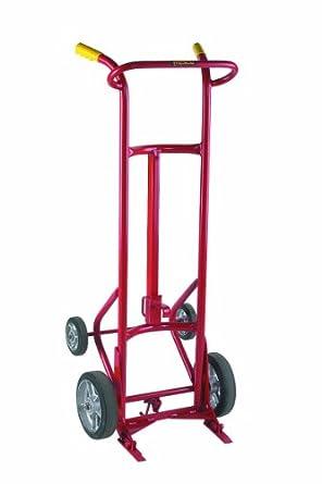 """Wesco 240001 Deluxe Series Steel Drum Truck, Moldon Rubber Wheels, 1000 lbs Load Capacity, 24"""" Width x 60"""" Height x 22"""" Depth"""