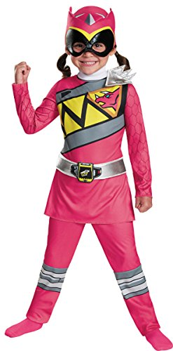 Disguise Pink Ranger Dino Charge Toddler Classic Costume, Medium (3T-4T)