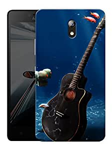 """Guitar Underwater Printed Designer Mobile Back Cover For """"Lenovo Vibe P1m"""" By Humor Gang (3D, Matte Finish, Premium Quality, Protective Snap On Slim Hard Phone Case, Multi Color)"""